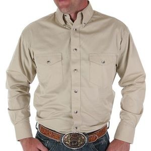 Other - Wrangler 100% Cotton Snap Long Sleeve Size M